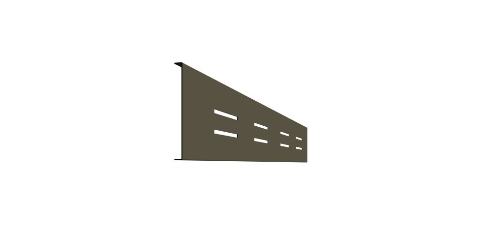 Bandeau 8 perforations rectangulaires 200mm x 10mm