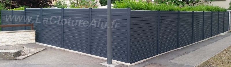 CLOTURE ALU GRIS 7016
