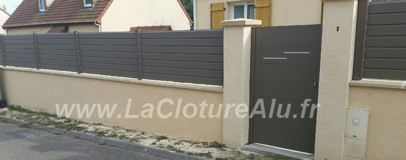 Avis et photos des clotures en aluminium la cloture alu - Cloture sur muret ...